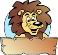 Vector illustration of an Proud Lion King Royalty Free Stock Photography