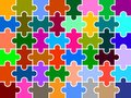 Puzzle pieces multi colored background