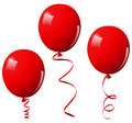 Vector illustration of red balloons Stock Photos