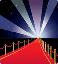 Vector illustration of red carpet. Royalty Free Stock Image