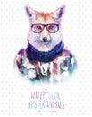 Vector Illustration Of Red Fox...