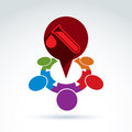 Vector illustration of a red speech bubble and test tube Royalty Free Stock Photo