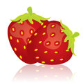 Vector illustration of red strawberry Royalty Free Stock Image