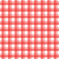 Vector illustration of red tablecloth Stock Photo