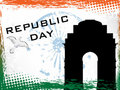 Vector illustration of Republic Day. Stock Image