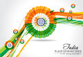 Vector illustration republic day wave background abstract Royalty Free Stock Photo