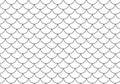 Vector illustration of a retro half circles seamless pattern bac