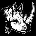 Vector illustration of a rhinoceros head