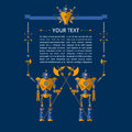 Vector illustration of Robot knights Royalty Free Stock Photo