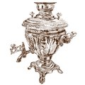 Vector illustration of a Russian samovar.
