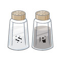 Vector Illustration Of Salt An...