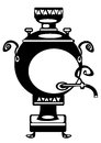 Vector illustration samovar on white
