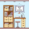 Vector illustration with school attributes Royalty Free Stock Photo