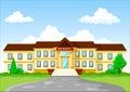 Vector illustration of school building cartoon Royalty Free Stock Photo
