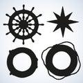 Vector illustration of sea ship supplies