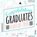 Vector illustration on seamless background congratulations of graduation 2016