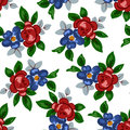 Vector illustration of seamless beautiful colorful flower pattern