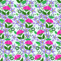 Vector illustration of seamless exotic flowers pattern