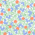 Vector illustration of seamless flower pattern