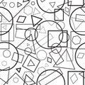 Vector illustration seamless pattern geometrical figures