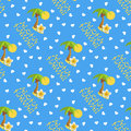 Vector illustration seamless pattern for Hawaii traveling. Tropical island with palm tree.