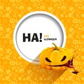 Vector illustration of seamless patterns for a happy halloween party pumpkin eats heart with splashes blood use brochures Stock Photography
