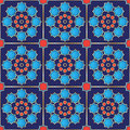 Vector illustration of a seamless turkish tile genuine design fully editable Royalty Free Stock Image