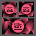 Set of Blend rose line abstract background