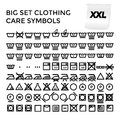 Vector Illustration Set Clothing Care Symbols Royalty Free Stock Photo