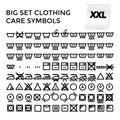 Vector Illustration Set Clothing Care Symbols Royalty Free Stock Photo