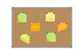 Vector illustration of a set of colored sticky papers pinned wit Royalty Free Stock Photo