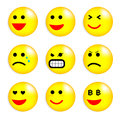 Vector illustration set cool smile balls all elements grouped eps Royalty Free Stock Photo