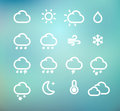 Vector illustration set original retro weather icon Royalty Free Stock Photo