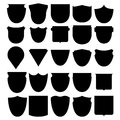Vector illustration set shields black Royalty Free Stock Photo