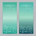 Vector illustration set of soft colored abstract background blue two