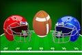 Vector illustration. Set of sport equipment. American football.