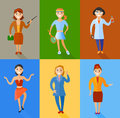 Vector illustration set of women of different professions