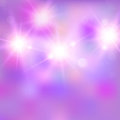 Vector illustration of shiny bright light. Abstract lights on pink background. Useful for your design.