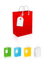 Vector illustration of shopping bag Royalty Free Stock Photos