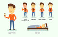 Vector Illustration Of Sick An...