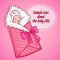 Vector illustration of sleeping baby girl Royalty Free Stock Image