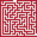 Vector illustration of small maze Royalty Free Stock Photo