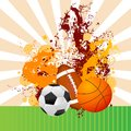 Vector illustration soccer basketball rugby ball Stock Photo