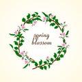 Vector illustration of spring blossom