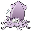 Vector illustration squid cartoon Stock Image