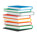 Vector illustration of stack books or magazines