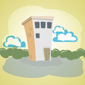 Vector illustration stone house Stock Photography