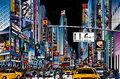 Vector illustration street new york city night Stock Image