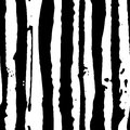Vector Illustration striped seamless hand drawn pattern. Black and white
