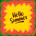 Summer Background In Watermelon Frame Royalty Free Stock Photo
